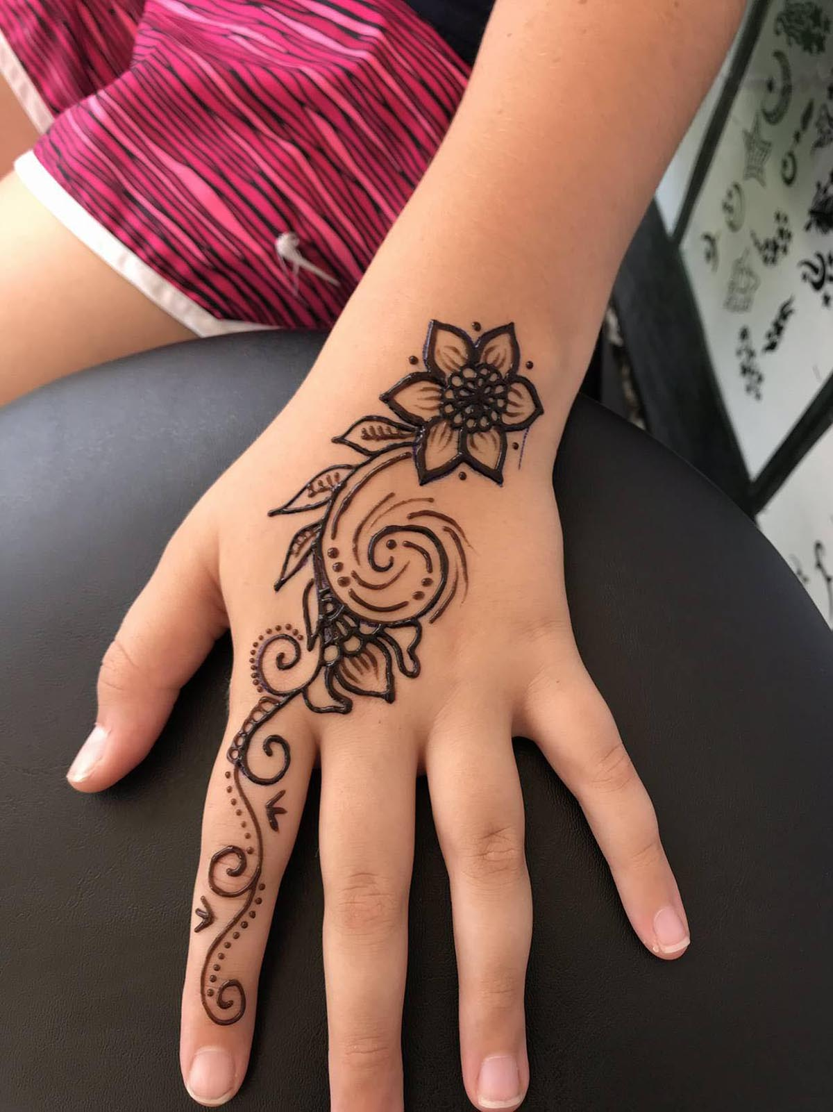 Hand Ornamental Flower